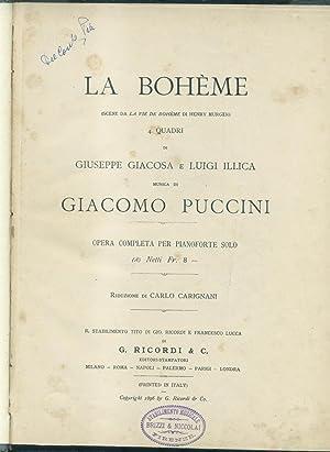 """LA BOHÈME (1896). Scene da """"La Vie de Bohème"""" di Henry Murger. Quattro ..."""