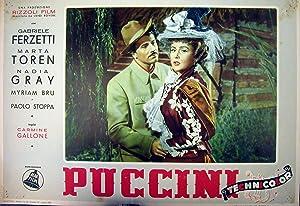 """Locandina cinematografica di propaganda del film """"Puccini"""" di Carmine Gallone, dedicato ..."""
