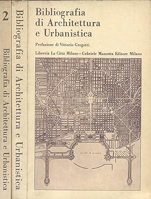 BIBLIOGRAFIA DI ARCHITETTURA E URBANISTICA. Prefazione di Vittorio Gregotti. 1971-1973.