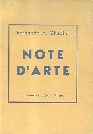 NOTE D'ARTE.: GHEDINI Fernando A.