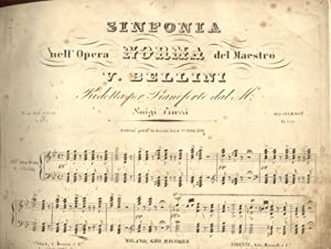 NORMA (1831). Opera completa. Riduzione per Pianoforte di L.Truzzi (Pl.n°5775-5786).: BELLINI ...