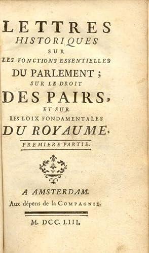 LETTRES HISTORIQUES SUR LES FONCTIONS ESSENTIELLES DU: Le PAIGE Louis