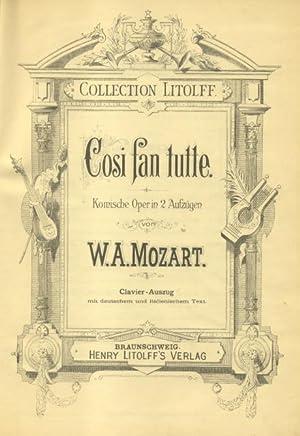 COSì FAN TUTTE (1790). Komische Oper in 2 Aufzügen. Clavier - Auszüg mit deutschem...