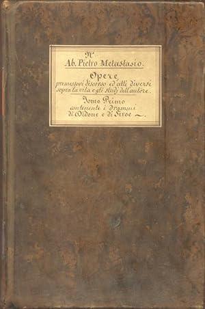 OPERE. 1810-1812.: METASTASIO Pietro.