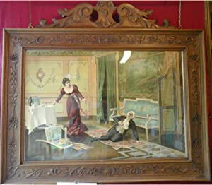 """Bella oleografia originale raffigurante una scena dell'opera """"Tosca"""" di Giacomo Puccini..."""
