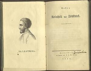 UEBER REINHEIT DER TONKUNST.: THIBAUT Anton Friedrich Justus .