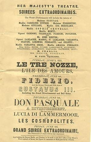 """Piccola locandina - annuncio con il programma di quattro serate straordinarie all'""""Her ..."""