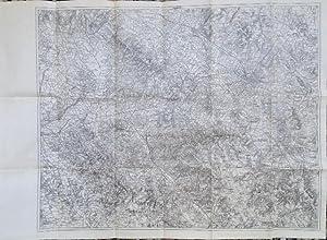 Carta topografica ottocentesca di una parte della Toscana, segnatamente l'area compresa tra ...