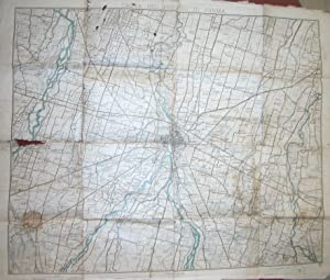 CARTA DEL PRESIDIO DI PARMA. Carta a cura dell'Istituto Geografico Militare.