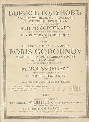 BORIS GODOUNOV (1874). Drame musical populaire en 4 actes avec une prologue, d'après ...