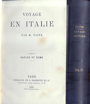 VOYAGE EN ITALIE. Tomo I: Naples et Rome. Tomo II: Florence et Venise.: TAINE Hyppolite.