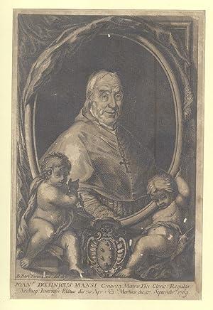 Incisione originale di Bartolomeo Nerici raffigurante l'Arcivescovo di Lucca Mons. Giovan ...