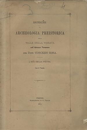 RICERCHE DI ARCHEOLOGIA PREISTORICA SULLA VALLE DELLA VIBRATA NELL'ABRUZZO TERAMANO. L'Et...