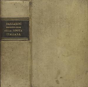 VOCABOLARIO USUALE TASCABILE DELLA LINGUA ITALIANA.: BAZZARINI Antonio.