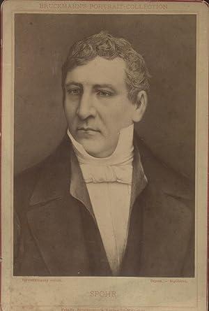 Fototipia raffigurante il musicista tedesco Louis Ludwig Spohr. 1880 circa.