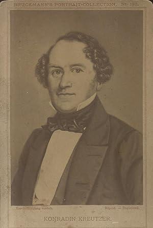 Fotografia raffigurante il musicista tedesco Konradin Kreutzer (Meßkirch, 1780 ? Riga, 1849)....