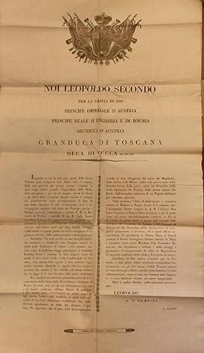 Bando con cui Leopoldo II annunzia ai Lucchesi l'abdicazione al trono di Carlo Lodovico di ...