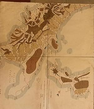 Carta policroma dei profili orografici del Sud Italia. XIX secolo.