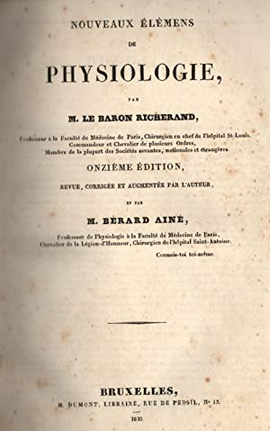 NOUVEAUX ÉLÉMENS DE PHYSIOLOGIE / TRATTATO COMPLETO DI FISIOLOGIA GENERALE E COMPARATA. Due opere ...