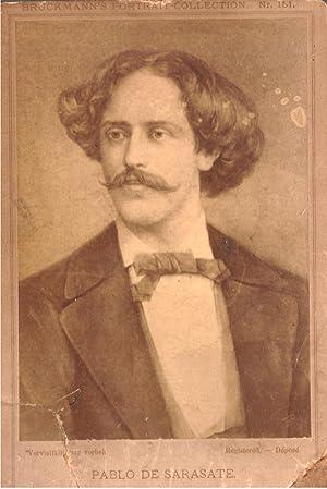 Fotografia raffigurante il musicista spagnolo Pablo Martín Melitón de Sarasate y ...