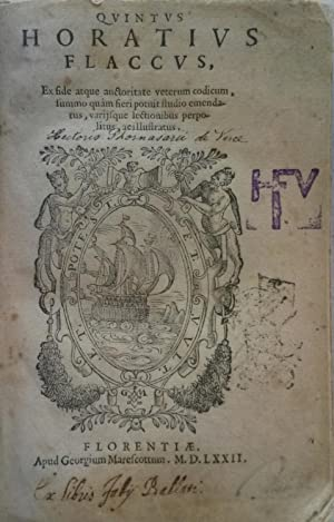 QUNTUS HORATIUS FLACCUS. Ex fide atque auctoritate veterum codicum, summo quam fieri potuit studio ...