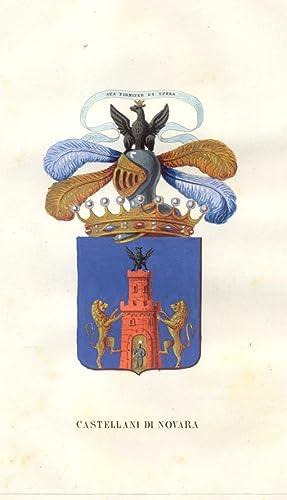 """CASTELLANI DI NOVARA. Fascicolo genealogico tratto da """"Teatro araldico, ovvero Raccolta ..."""
