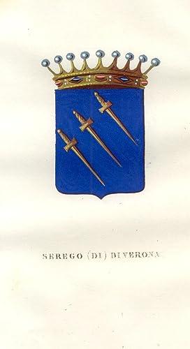 """SEREGODI VERONA. Fascicolo genealogico tratto da """"Teatro"""