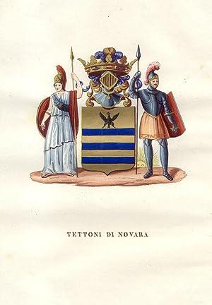 TETTONI DI NOVARA. Fascicolo genealogico tratto da