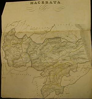 Carta ottocentesca del territorio di Macerata.