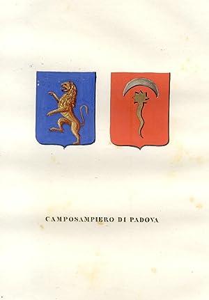 CAMPOSAMPIERO DI PADOVA. Fascicolo genealogico tratto da