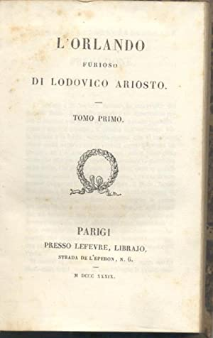 L'ORLANDO FURIOSO DI LODOVICO ARIOSTO.: ARIOSTO Lodovico.