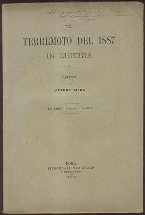 IL TERREMOTO DEL 1887 IN LIGURIA. Appunti,: ISSEL Arturo.