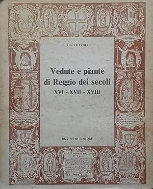 VEDUTE E PIANTE DI REGGIO DEI SECOLI XVI, XVII, XVIII.: DAVOLI Zeno.
