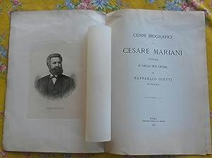 CENNI BIOGRAFICI DI CESARE MARIANI PITTORE E DELLE SUE OPERE.: OJETTI Raffaello.