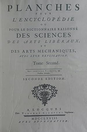 """BONNETIER DE LA FOULE. Due tavole tratte da """"Planches pour l'""""Encyclopédie ou..."""