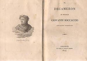IL DECAMERON DI MESSER GIOVANNI BOCCACCIO CITTADINO: BOCCACCIO Giovanni.