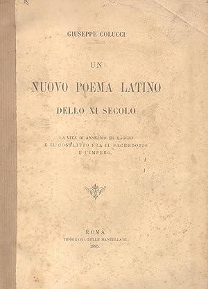 UN NUOVO POEMA LATINO DELLO XI SECOLO. La vita di Anselmo da Baggio e il conflitto fra il ...