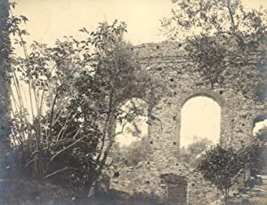 """Fotografia originale raffigurante i """"Ruderi della Villa di Simon Boccanegra a S.Martino d&#x27..."""