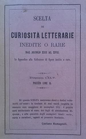 LETTERE INEDITE DI UOMINI ILLUSTRI BOLOGNESI.: MALAGOLA Carlo.