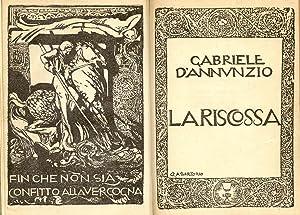 LA RISCOSSA.: D'ANNUNZIO Gabriele.