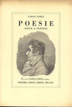 POESIE EDITE E INEDITE.: PORTA Carlo.