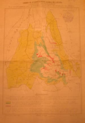 Carta delle Zone ove può constatarsi peste cavallina. Asmara, luglio 1915.: FERRARO Giuseppe...
