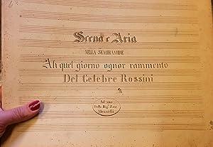 """SEMIRAMIDE (1823). Scena e Aria """"Ah quel giorno ognor rammento"""". Riduzione manoscritta ..."""