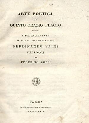 ARTE POETICA.: ORAZIO FLACCO Quinto.
