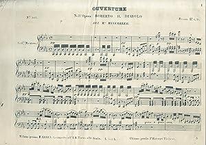 ROBERTO IL DIAVOLO (1831). Opera in cinque Atti. Riduzione per Pianoforte solo. prima metà &...