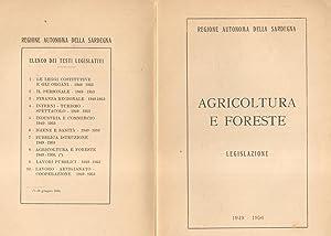 AGRICOLTURA E FORESTE. Legislazione.: Regione Autonoma della Sardegna.