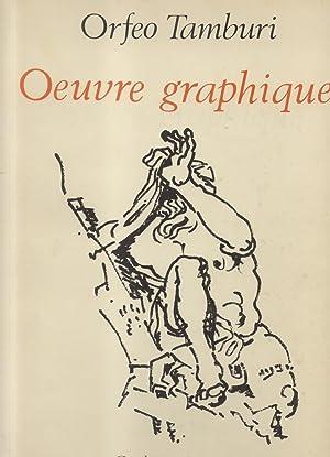 ORFEO TAMBURI. Oeuvre graphique. Dessins, gouaches, aquarelles 1929-1970.