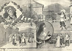 LA SONNAMBULA. Opera di Vincenzo Bellini. Composizione di R.Salvadori in fotoincisione fuori testo ...