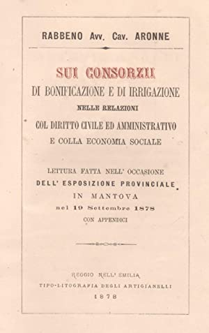 SUI CONSORZI DI BONIFICAZIONE E DI IRRIGAZIONE. Nelle relazioni col diritto civile ed ...
