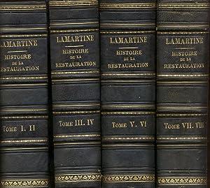 HISTOIRE DE LA RESTAURATION. Paris, Pagnerre, Lecou, Furne, 1851-1852.: LAMARTINE Alphonse Marie ...